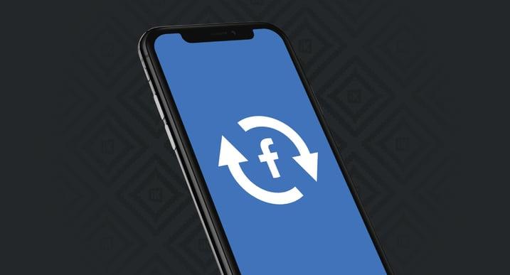 Facebook logo and update symbol