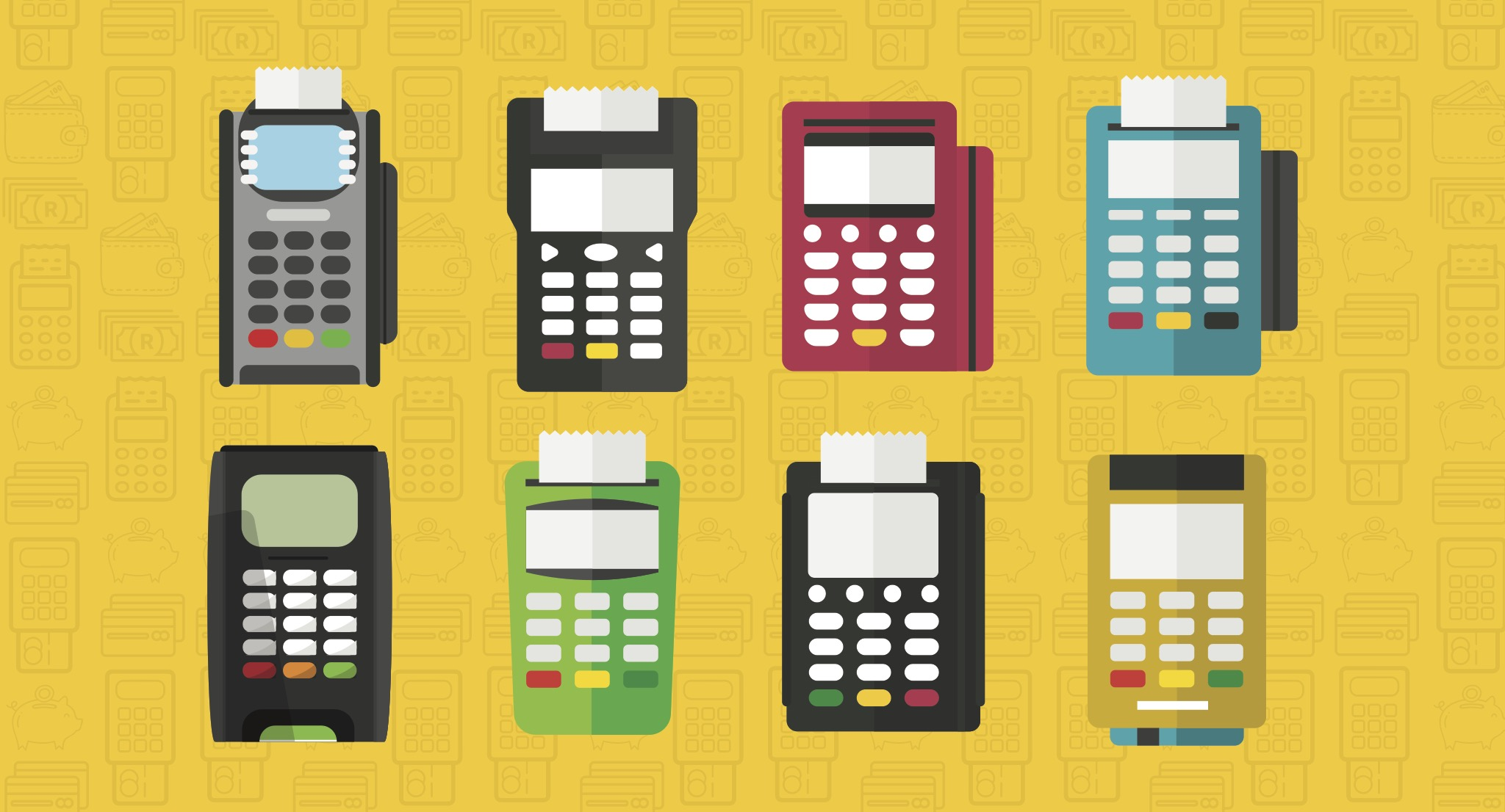 Different types of card machines