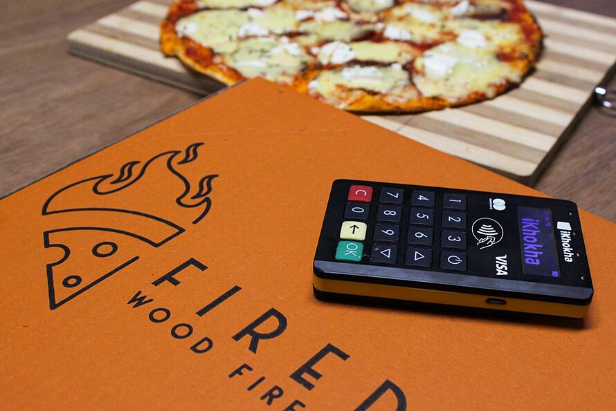 firedup pizzeria Durban card machine Mover Pro