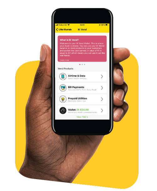 ikhokha vend phone app in hand