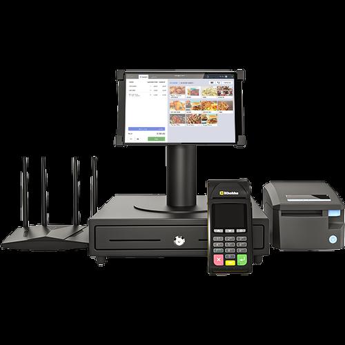 iK POS bundle with tablet, cash register, modem and card machine